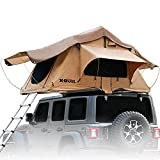 X-BULL Rooftop Tent Truck SUV Camping Rooftop Tent with Ladder,Rooftop Tents for Camping Large Space Suitable for 3-4 People