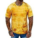 Männer Graffiti Kurzarm T-Shirt Gebraucht Gedruckt Rundhals-T-Shirt