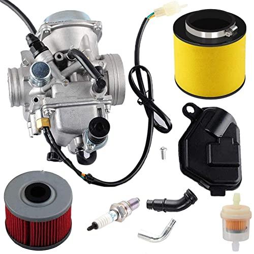TRX350 Carburetor for 350 Rancher, 2000-2006 FE/FM/TE/TM/ES Atv 4 Stroke Replacement Carb Assembly...