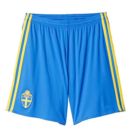 adidas Herren Trikot/Heim-Shorts Schweden Replica, Blau/Gelb, L