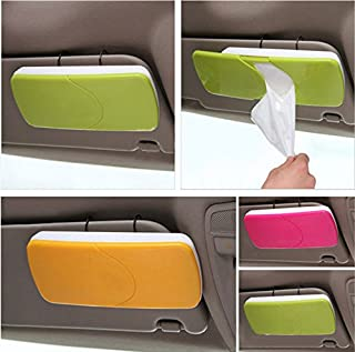 MOHAK New Auto Accessories Car Sun Visor Tissue Box Paper Napkin Holder with Tissue