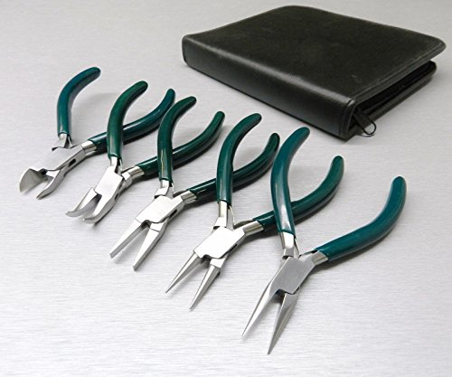"""5 Pc Jewelers Pliers Set Jewelry Making Beading Wire Wrapping Hobby 5"""" PLIER KIT (LZ 1.5 FRE)"""