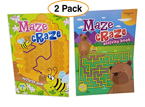 Kappa Maze Craze Maze Books for Kids | Activity Puzzle Book, Fun & Challenging (2 Pack)