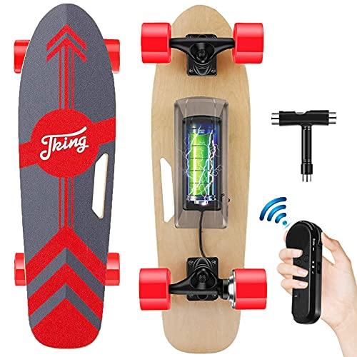 Tooluck Electric Skateboard Monopatín eléctrico con Mando a Distancia inalámbrico, 20 km...