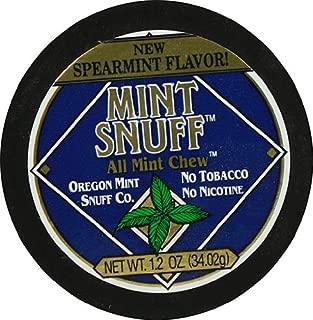 Oregon Mint Snuff Co. - Mint Snuff All Mint Chew - Spearmint Flavor 1.2oz Tin (5 Cans)