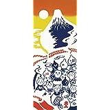 kenema手ぬぐい 縁起 瓢箪猫と富士山