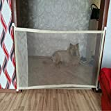 Haustier Haustier Hund Zäune tragbare Falten Sicheres Schutz Sicherheit Tür Magic Gate for Hunde Katzen-Haustier, Größe: 110cm x72cm...