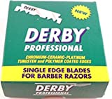 Derby Professional Single Edge Razor Blades, 100 Count (Pack of 2)