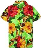 V.H.O. Funky Camisa Hawaiana, BigFlower, Green, S