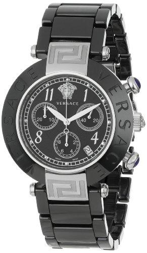 Versace Women's 95CCS9D008 SC09 Reve Black Ceramic Chronograph Watch