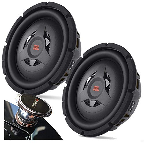 "Pair of JBL Club WS1000 800 watts Power (200 watts RMS) Club Series 10"" Shallow-Mount Component subwoofer with Selectable impedance with EMB Magnet Phone Holder Bundle"