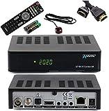 ANADOL IZYBOX Combo 4K Receptor de satélite, receptor de cable o receptor DVB-T2, sintonizador DVB-S2X, Multistream, 2X USB, lector de tarjetas, Astra preinstalado