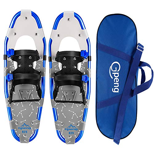 """Gpeng Snowshoes for Men and Women, Lightweight Aluminum Alloy All Terrain Snow Shoes with Adjustable Ratchet Bindings with Carrying Tote Bag,14""""/21""""/ 25""""/27""""/ 30"""""""