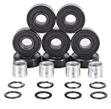 Redsia Skateboard Bearings ABEC 11 Precision 608 2RS with Spaces and Speed Washers for Longboard, Mini Cruisers, Scooter, Roller Skates, Inline Wheels (Set of 8 Pcs)