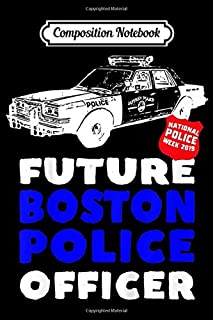 Composition Notebook: Kids Kids Police Future Officer Car Badge Boston Journal/Notebook Blank Lined Ruled 6x9 100 Pages