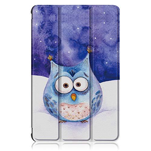 Xuanbeier Ultra Dünn Hülle Kompatibel mit Samsung Galaxy Tab A7 10.4 Zoll SM-T500/T505/T507 2020 Tablette Schutzhülle Mit stehender & Auto Schlaf/Wach Funktion,Eule