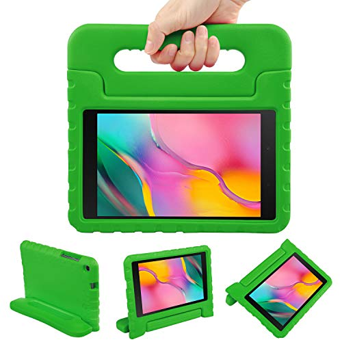 NEWSTYLE Kids Case for Samsung Galaxy Tab A 8.0 2019 (SM-T290/T295) - Toddler Lightweight Shockproof Portable Handle Stand Kids Case for Tab A 8.0 Inch 2019 SM-P290/P295 Release (Green)