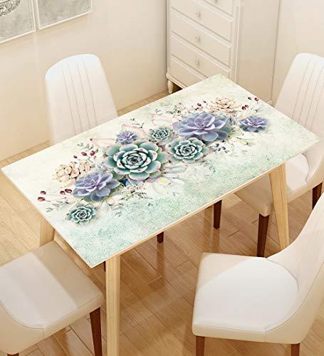 YUDEYU Rechteck PVC Tischdecke Wasserdicht Filet 3D-Effektmuster Tischset Einfach Zu Säubern (Color : D, Size : 70X130CM)