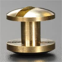 シカゴスクリュー 真鍮 コンチョネジ 穴あき 10mm