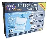 Seko Sekodry Holiday 2 Absorbeurs de 300 g Sec Absence de rejet d'eau Spécial véhicule et...