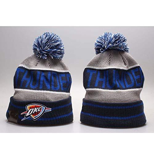 KHHK NBA Knitted Hat Lakers/Rockets/Warriors/Celtics/Heat Thicken Gorro de Invierno con Logo Bordado