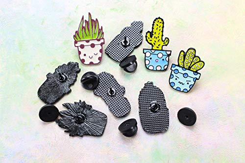 Cute Unique Enamel Pin Set – Novelty Art Enamel Lapel Pin Set – Funny Cartoon Enamel Brooch Pin Pack for Girls Boys Women Men