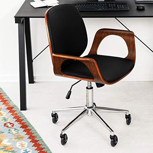 51PdwGQTvjL. SL500  - kwmobile Ruedas para Silla de Oficina - Set de 5X Rueda de Repuesto giratoria Universal de Ø 75 MM para Escritorio Mesa sillas Muebles Mueble - Negro