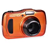 Praktica Luxmedia WP240 Waterproof Digital Compact Camera - Orange (20 MP,4x Optical Zoom)