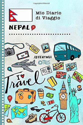 Nepal Diario di Viaggio: Libro Interattivo Per Bambini per Scrivere, Disegnare, Ricordi, Quaderno da Disegno, Giornalino, Agenda Avventure – Attività per Viaggi e Vacanze Viaggiatore