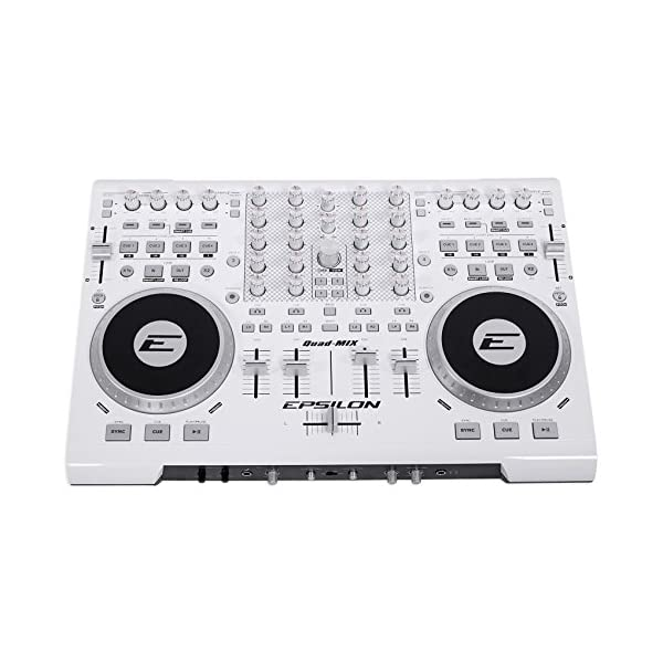 EPSILON QUADMIXWHITE 4 Deck USB Professional MIDI DJ Controller White