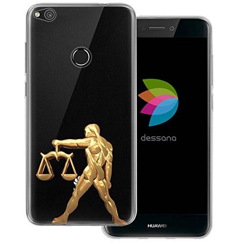 dessana sterrenbeeld goud transparante siliconen TPU beschermhoes 0,7 mm dunne mobiele telefoon soft case cover tas voor Huawei, Huawei P8 Lite (2017), weegschaal
