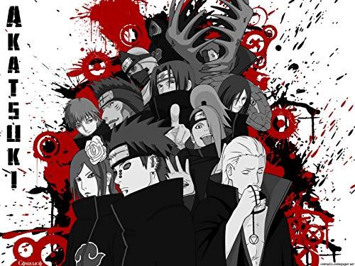 Kopoo Naruto Akatsuki Anime - Póster (11 x 17 cm, 28 x 43 cm)