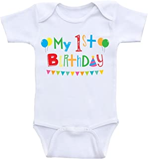 Heart Co Designs First Birthday Baby Clothes My 1st Birthday One Piece Shirts for Babies