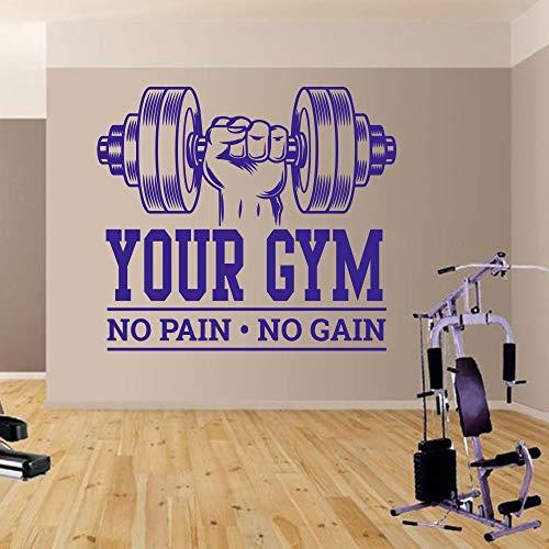 fdgdfgd Gym Bodybuilding schmerzlos ohne Gewinn Wandaufkleber Workout Fitness Übung Finden Inspiration inspirierende Zitate Wandtattoo Dekoration Vinyl