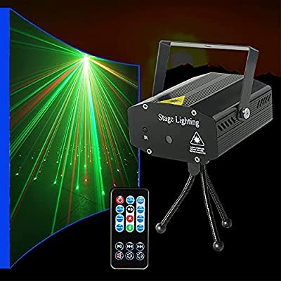 LED Disco Lights Party Light GEELIGHT Strobe Light Mini Auto Flash Dj Stage Strobe Lights Sound Activated for Parties Room Show Birthday Party Wedding Dance Lighting with Remote Control