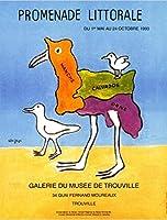 サヴィニャック Raymond Savignac 大判ポストカード「海辺の散歩展1993年」