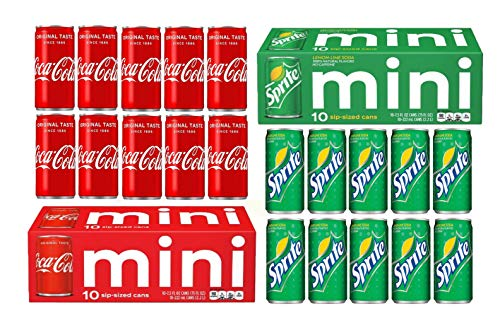 Coke, Sprite, 20 Can Variety Pack; 10 of Each (7.5oz cans)