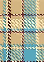 igsticker ポスター ウォールステッカー シール式ステッカー 飾り 1030×1456㎜ B0 写真 フォト 壁 インテリア おしゃれ 剥がせる wall sticker poster 004077 チェック・ボーダー チェック ブラウン 青