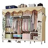 Closet Storage Closet Clothes Portable DIY Closet Organizadores para sala de estar Dormitorio Armario, organizador de almacenamiento de ropa con almacenes de cámaras colgantes y almacenes Wardrobe Clo