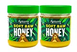 Apiterra - Raw Honey Unfiltered Unpasteurized 100% Pure and Natural Wildflower Soft Raw Honey, 22 ounce, 2 pack (total 44 ounce)