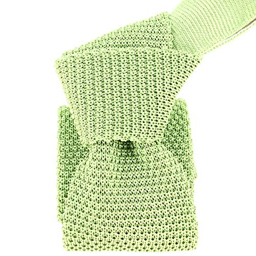 Tony & Paul - Cravate Tricot Vert Mela, Soie