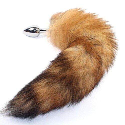BONDAGERIE® Cola Fox Tail, color beige con plùg metal disponible en varios tamaños