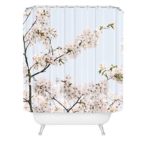 Deny Designs Duschvorhang Catherine McDonald Kirschblüten in Seoul 182,9 x 175,9 cm, Rosa