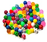 U/D 49 Pallina rimbalzo per, palla in gomma, per feste di compleanno, per bambini e bambine,Ripieno di sacchetti di caramelle per calze di Natale, giocattoli per animali domestici(colore casuale)