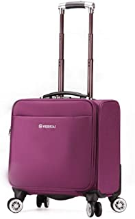 Trolley Case Travel Case, Portable Small Suitcase, Oxford Cloth, Waterproof, Wear-Resistant, Rotatable Pulley Travel Luggage Carry-Ons (Color : Pink)