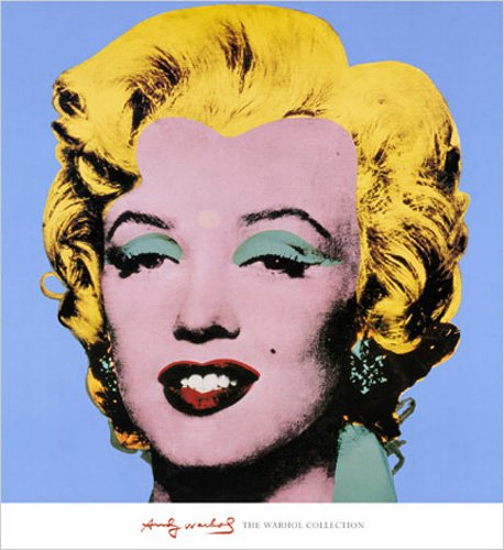 empireposter Warhol, Andy - Shot - Blue Marilyn - Kunstdruck Gemälde Film-Kino-Movie Marilyn Monroe - 65x71 cm