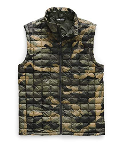 The North Face Men's Thermoball Eco Vest, Burnt Olive Green Waxed Camo Print, Medium