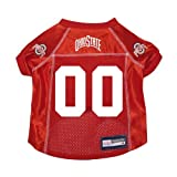 Ohio State Buckeyes Premium NCAA Pet Dog Jersey w/Name Tag Large