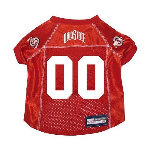 Ohio State Buckeyes Premium NCAA Pet Dog Jersey w/Name Tag Large