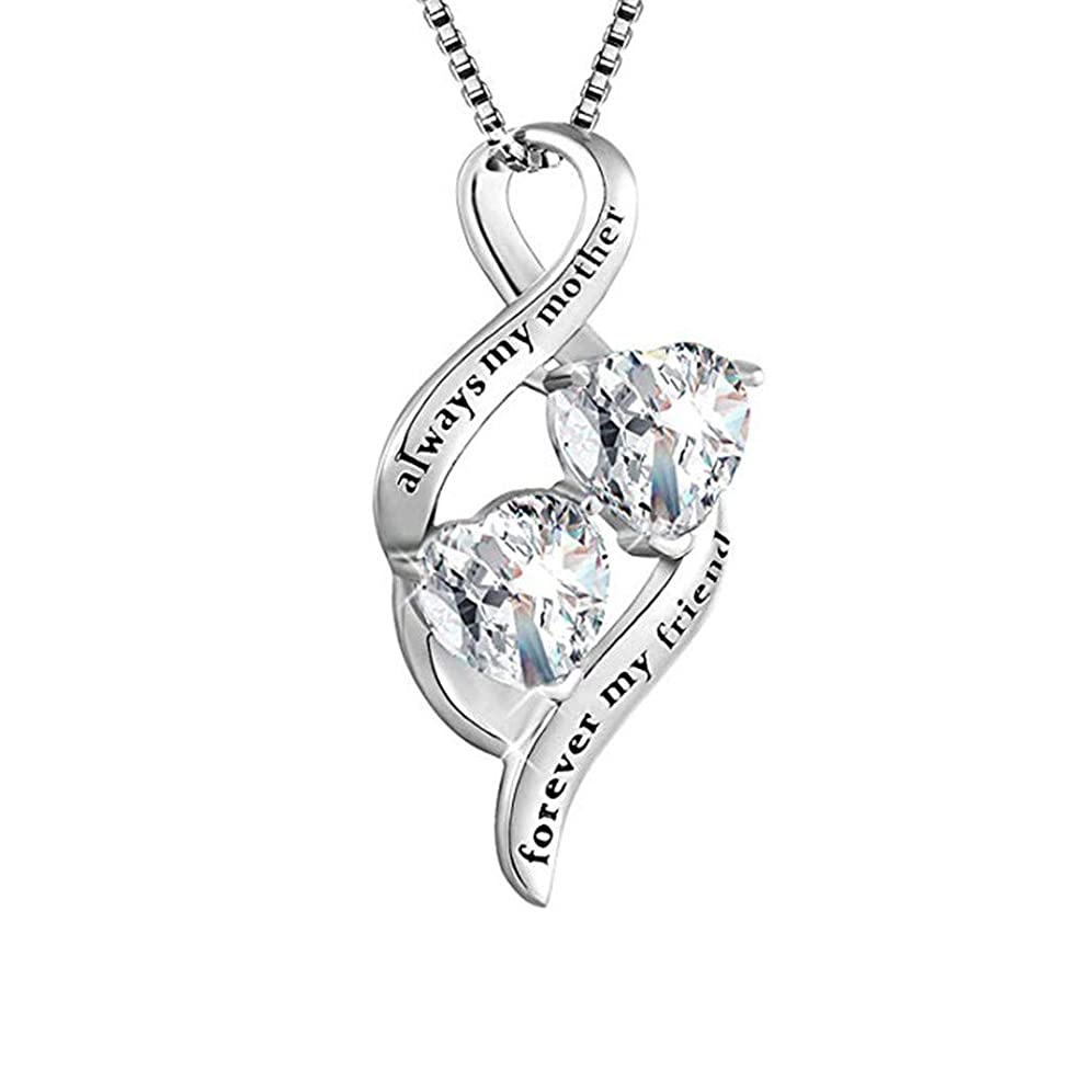 Cathy Clara Fashion Necklace Silver Accessories MOM Diamond Necklace Jewelry Mother's Day Gift Necklaces Pendants Crystal